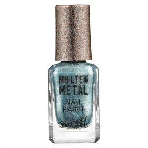 Barry M Cosmetics Molten Metal Nail Paint Blue Glacier
