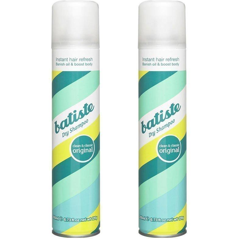 Batiste Dry Shampoo Original Duo 2 x Dry Shampoo 200ml