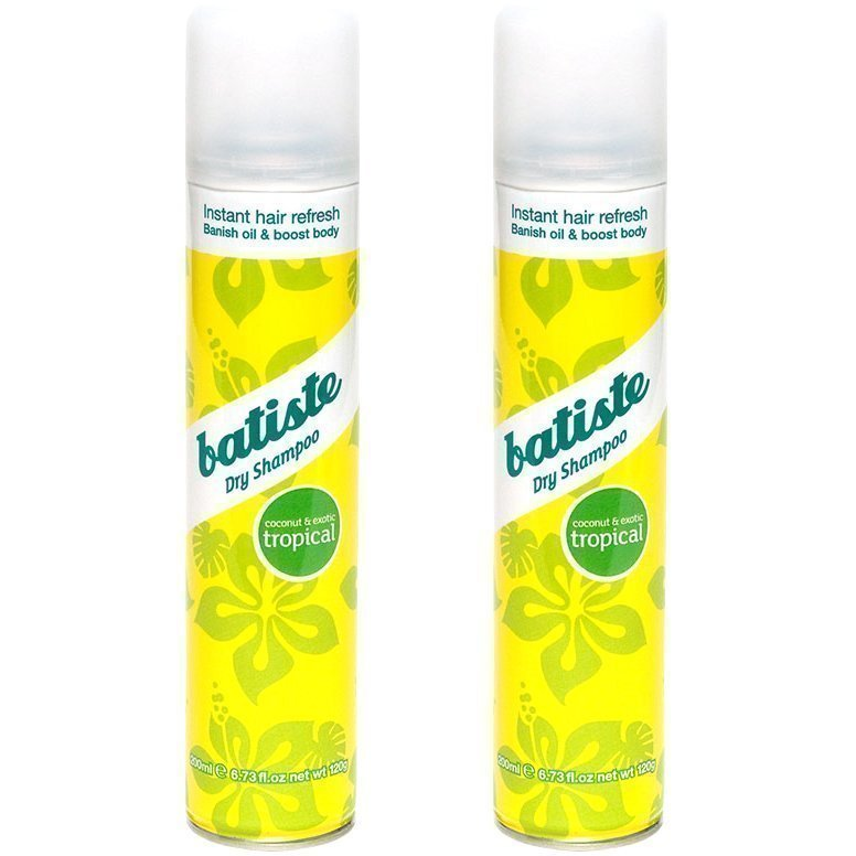 Batiste Dry Shampoo Tropical Duo  2 x Dry Shampoo 200ml