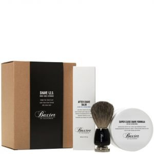 Baxter Of California Shave Kit 1-2-3 With Best Badger Brush