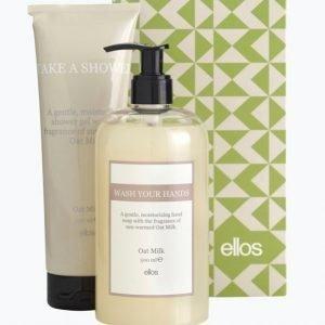 Beauty By Ellos Oat Milk Lahjapakkaus Hand Soap 500 Ml & Shower Gel 250 Ml