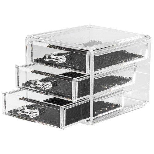 Beauty Organizers Bijoux Organizer Jewelry Organizer Box with 3 Drawers