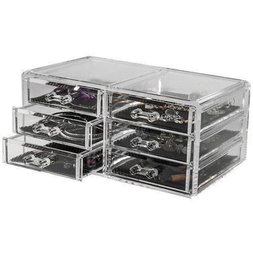 Beauty Organizers Bijoux Organizer Jewelry Organizer Box with 6 Drawers