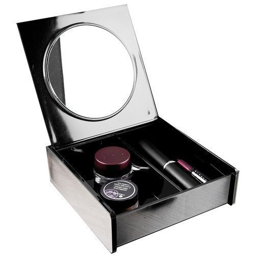 Beauty Organizers Cosmetic Organizer with Mirror Black