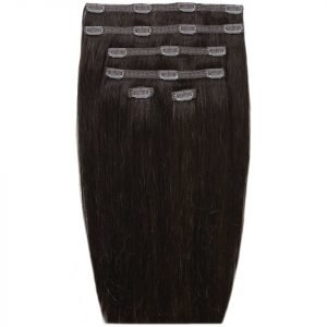 Beauty Works 18 Double Hair Set Clip-In Extensions Ebony 1b