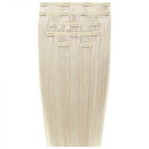 Beauty Works 18 Double Hair Set Clip-In Extensions Pure Platinum 60a