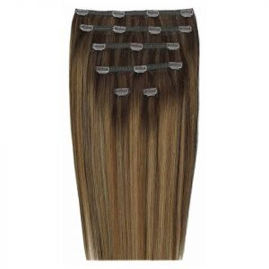 Beauty Works Double Hair Set 18 Inch Clip-In Hair Extensions #Brond'mbre