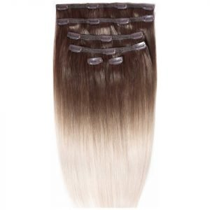 Beauty Works Double Hair Set 18 Inch Clip-In Hair Extensions #High Contrast Ash