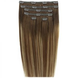 Beauty Works Double Hair Set 18 Inch Clip-In Hair Extensions #Mocha Melt