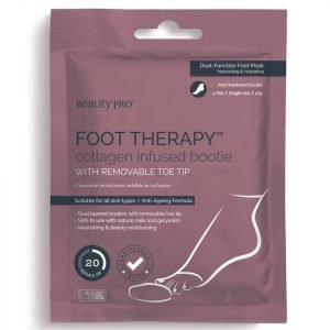 Beautypro Foot Therapy Collagen Infused Bootie With Removable Toe Tip 1 Pair