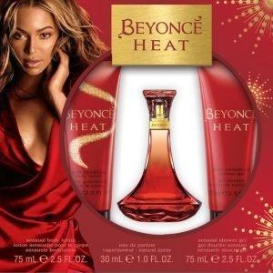 Beyonce Heat Kisses Edp 30 Ml + Sgi 75 Ml + Vartalovoide 75 Ml Lahjapakkaus Naiselle