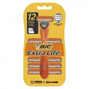 Bic Extra Life Partahöylä + 12 Terää