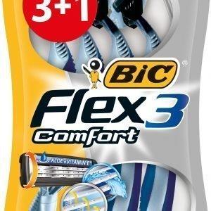 Bic Flex 3 Comfort Varsiterä 3+1 Kpl