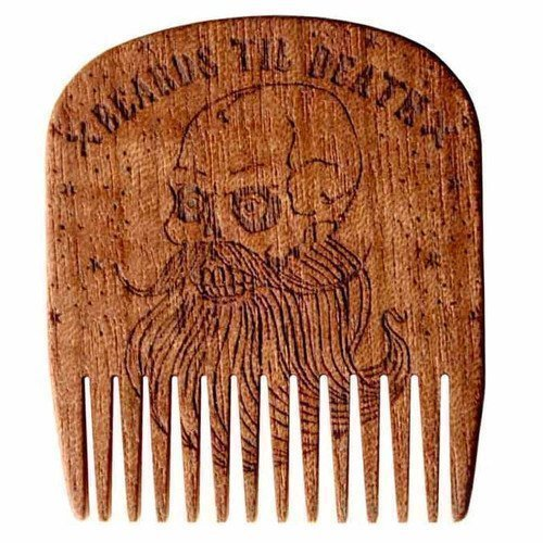 Big Red Beard Comb No.5 Beards Til Death Skull