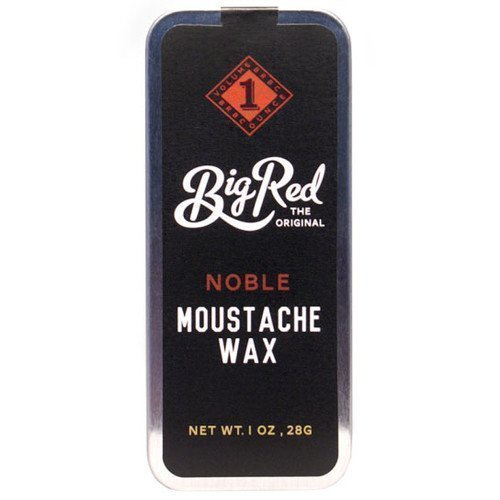 Big Red Beard Moustache Wax Dillinger
