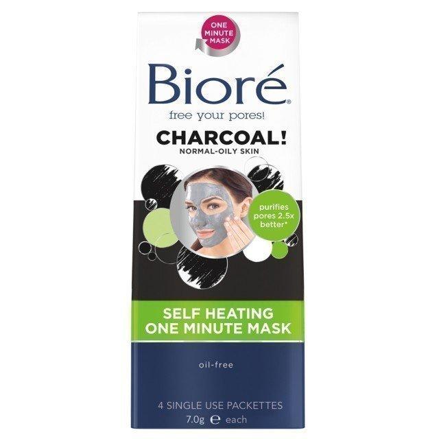 Bioré Self Heating One Minute Mask 4 st