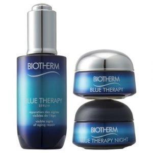 Biotherm Blue Therapy Serum Pakkaus Kaikille Ihotyypeille Seerumi 50 ml + Päivävoide 15 ml + Yövoide 15 ml