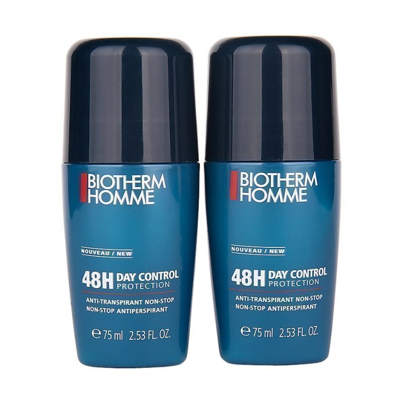 Biotherm Homme 48H Day Control Duo Deodorant Roll on x 2