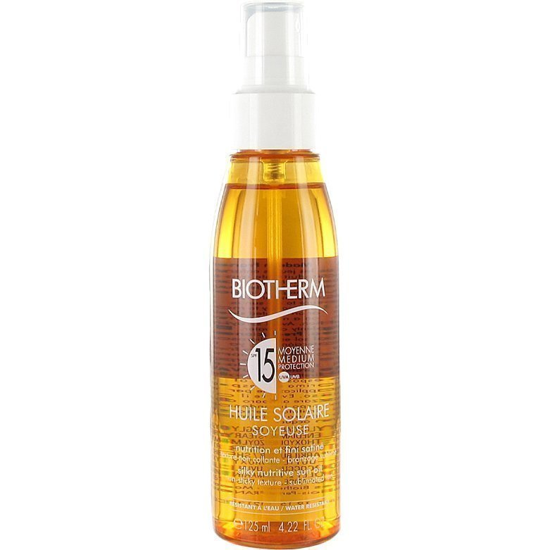 Biotherm Huile Solaire SPF 15 Silky Nutrition Sun Oil Waterproof 125ml