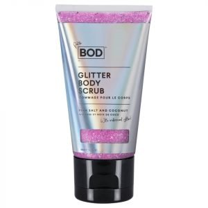 Bod Pink Salt And Coconut Glitter Scrub With Iridescent Petite