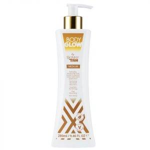 Body Glow By Skinny Tan Medium Lotion 280 Ml