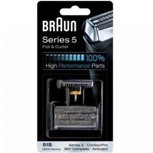 Braun Combipack 51s Hopeanvärinen