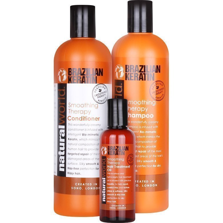 Brazilian Keratin Brazilian Keratin Trio Shampoo 500ml Conditioner 500ml Hair Oil 100ml