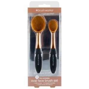 Brushworks Hd Oval Brushes Face Set