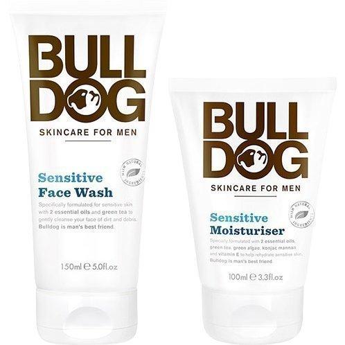 Bulldog Bulldog Sensitive Duo Face Wash 150ml Moisturiser 100ml