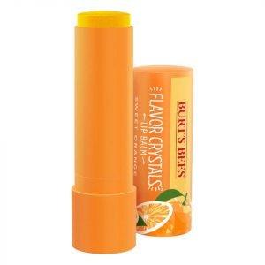 Burt's Bees Flavour Crystals 100% Natural Moisturising Lip Balm Sweet Orange 4.53 G