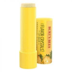 Burt's Bees Flavour Crystals 100% Natural Moisturising Lip Balm Tropical Pineapple 4.53 G