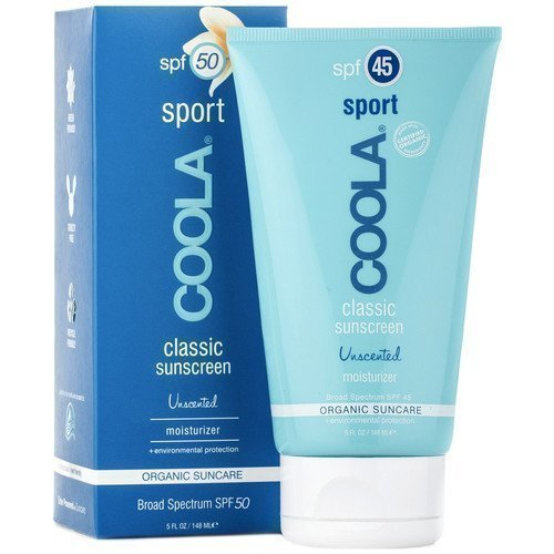 COOLA Classic Sunscreen Sport Unscented Moisturizer for Body SPF 50