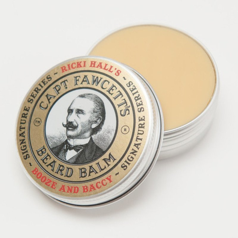 Captain Fawcett Beard Balm Ricky Hall's Booze & Baccy