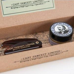 Captain Fawcett Moustache Wax&Folding Comb Lavender