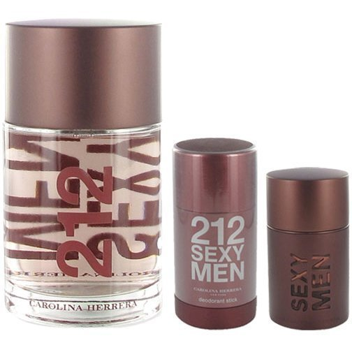 Carolina Herrera 214 Sexy Men Trio EdT 50ml Deostick 75ml After Shave Lotion 100ml