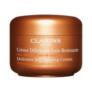 Clarins Delicious Self Tanning Cream Itseruskettava Voide Kasvoille Ja Vartalolle 125 ml