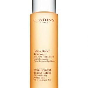 Clarins Extra Comfort Toning Lotion Kasvovesi Kuivalle Tai Herkälle Iholle 200 ml