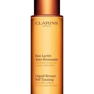 Clarins Liquid Bronze Self Tanning Itseruskettava Neste Kasvoille Ja Dekoltee Alueelle 125 ml