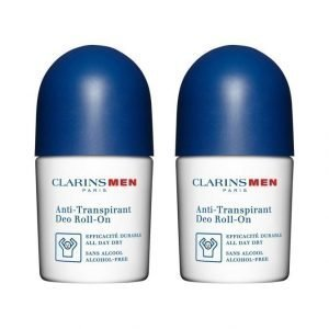Clarins Men Deo Roll On Deodorantti 2 X 50 ml