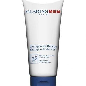 Clarins Men Total Shampoo Hair & Body 200 ml Suihkushampoo Miehelle