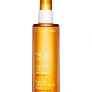 "Clarins Sun Care Oil Free Lotion Spray Moderate Protection ""For Outdoor Sports"" Uva/Uvb 15 150 ml Auringonsuojasuihke Vartalolle"