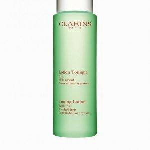 Clarins Toning Lotion Oily Skin 200 Ml Meikinpoistoaine Valkoinen