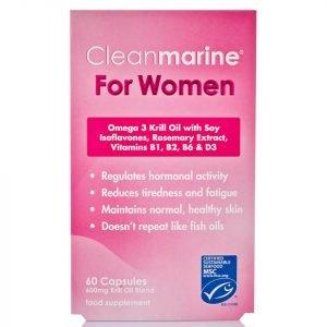 Cleanmarine Krill Oil For Women 60 Gel Capsules 600mg