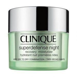 Clinique Superdefense Night Recovery Yövoide Kuivalle Ja Kuivalle Sekaiholle 50 ml