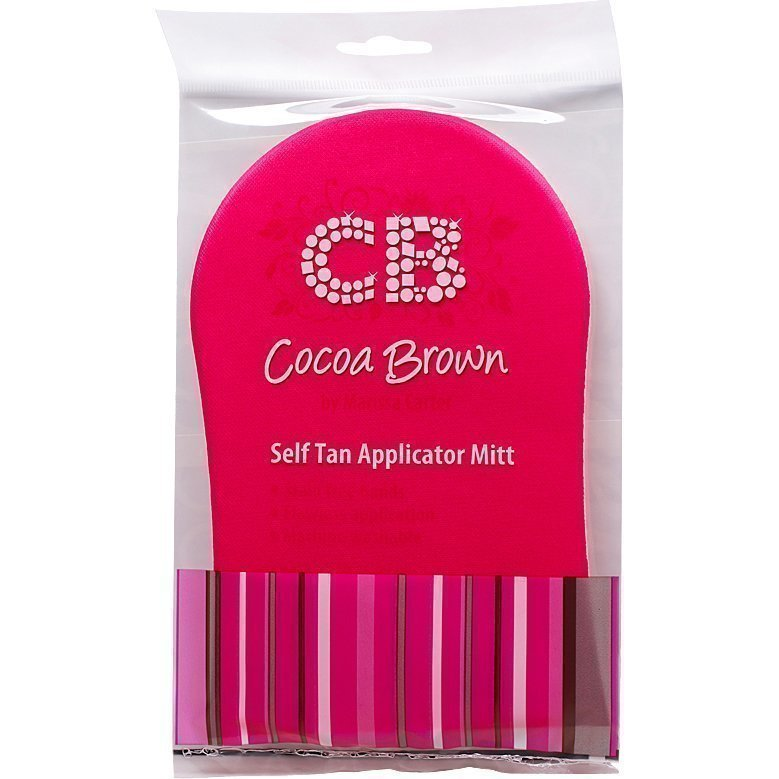 Cocoa Brown Self Tan Applicator Mitt Pink