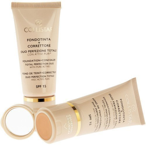 Collistar Foundation + Concealer Total Perfection Duo SPF 15 1 Ivory