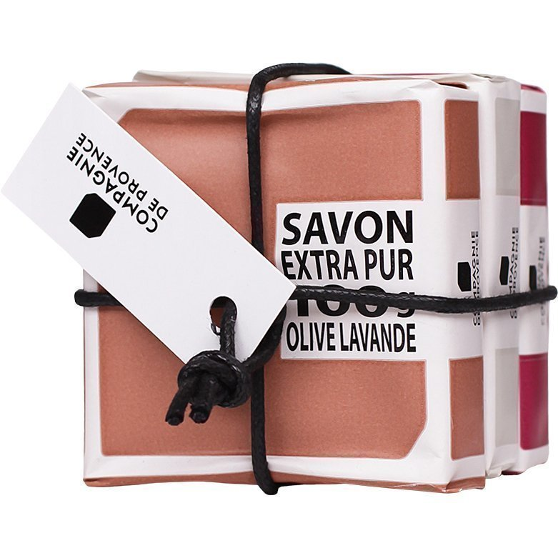 Compagnie de Provence Olive And Lavender Cotton & Fig  Soap Kit 100g