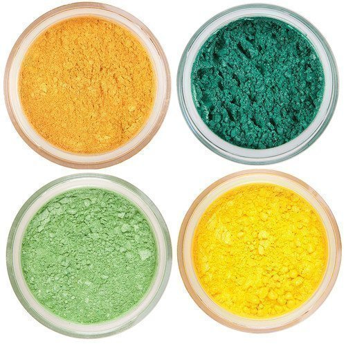 Core Cosmetics Mineral Loosed Eye Shadow Green & Yellow Shades Lovely Peach