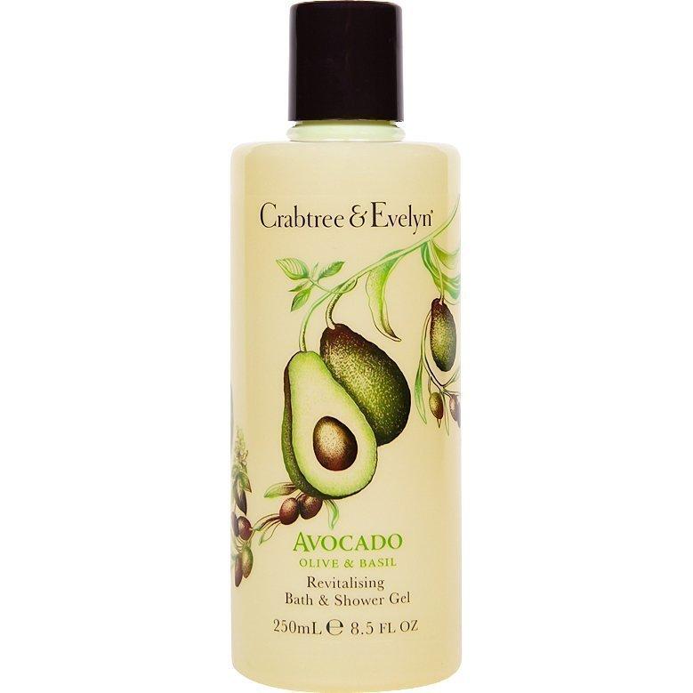 Crabtree & Evelyn Avocado Olive & Basil Bath & Shower Gel 250ml