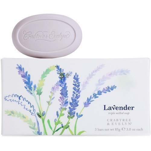 Crabtree & Evelyn Lavender Triple Milled Soap 3 x 85 g